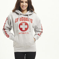 Ladies Grey East Coast Lifeguard Hoodie