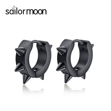 korean fashion black earrings for men Small Earrings male ear jewelry stainless steel stud earrings