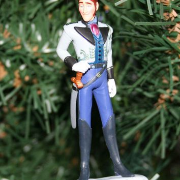 Licensed cool Custom Disney FROZEN Movie Dashing Hansom HANS PVC Christmas Holiday Ornament