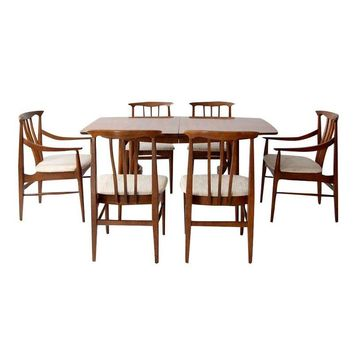 Pre-owned Mid-Century Dining Set - Table & 6 Chairs