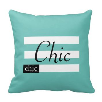 chic simple design throw pillow