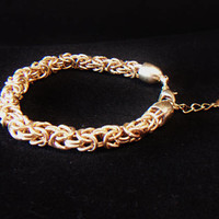 Alfani Chain Bracelet Byzantine Link Designer Signed Jewelry Fashion Accessories For Her Gold Tone
