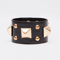 Backlash Studded Bracelet - Black - One