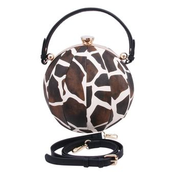 Dramatic Brown Giraffe Ball Bag