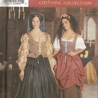 12-0802 1999 OOP SIMPLICITY Renaissance Pattern 8715 / Size 4-6-8 / Small / Costume / Corset