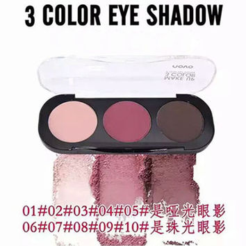 4styles Professional Makeup Eyeshadow 3 Colors Palette 100% Brand New Novo Shimmer Matte Eye Shadow Palette Silky Pigment