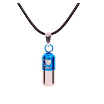 Metal Save Love Can Open Pills Pendant Necklace