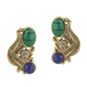 House of Harlow 1960 Jewelry Arremon Feather Stud Earring