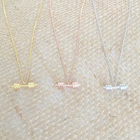 Dumbbell Necklace barbell necklace in Gold, Silver, or Rose Gold, Delicate Dainty Necklace