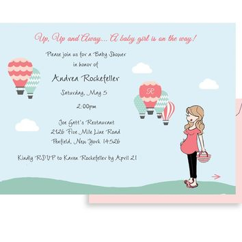 Personalized Baby Shower -Hot Air Balloons