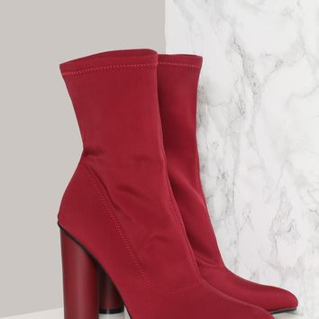 City Streets Bootie - Burgundy - Accessories - New at Gypsy Warrior