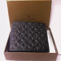 ONETOW LOUIS VUITTON BB WOMEN'S MEN'S LEATHER WALLET NO BOX