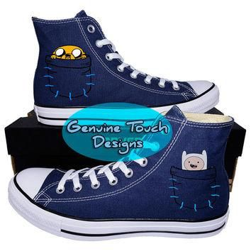 Hand Painted, Adventure Time, Fanart shoes, Custom converse, Birthday Gifts, Christmas