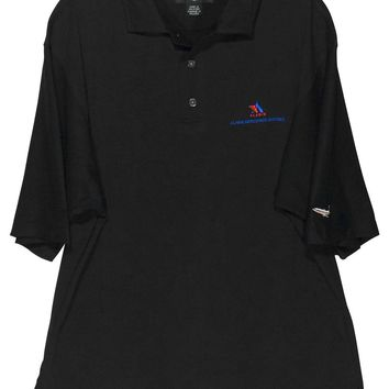 Footjoy FJ Alaris Aerospace Systems Airplane Knit Golf Polo Shirt Mens Medium M - Preowned