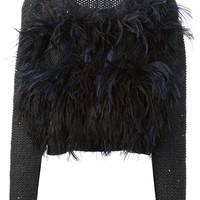 Brunello Cucinelli feathered sweater