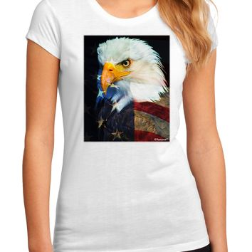 Patriotic Bald Eagle - American Flag Juniors Sublimate Tee by TooLoud
