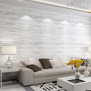 Modern Simple 3D Cross Stripe Non-Woven Wallpaper Living Room TV Sofa Bedroom Background Wall Covering Home Decor Wall Paper 3 D