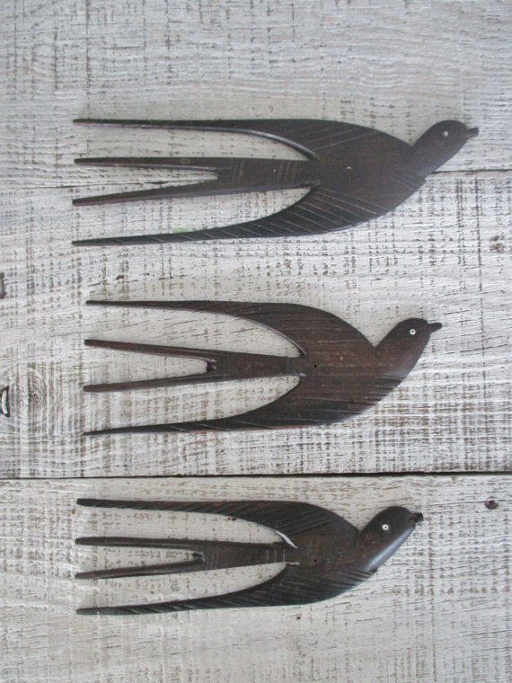 Bird Wall Hanging Set Of 3 Mid Century From The Dusty Old