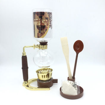 3 cups The new fashion siphon coffee maker / high quality glass syphon strainer coffee pot Siphon pot filter coffee tool GT-3