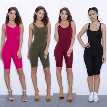Women Summer Bodysuit Rompers Womens Jumpsuit Sexy Backless 9 colors Shorts Bodycon Jumpsuits American Apparel femme jump suit