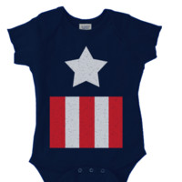 CAPTAIN AMERICA COSTUME Onesuit FUNNY BABY Onesuit CUTE BABY STUFF BABY CLOTHES CUSTOM BABY CLOTHES halloween outfit TODDLERS BABY GIFTS BABY SHOWER