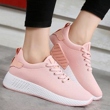 Woman solid cotton fabric women sneakers sewing wedges shoes for women