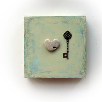 OOAK Valentines Day Gift for him - the key to my heart -
