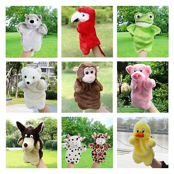 Animals Hand Puppet Plush Toys Kids Cute Hand Puppets Sloth Duck Cow Parrot Monkey Snake Stuffed Doll Baby Toys Gifts