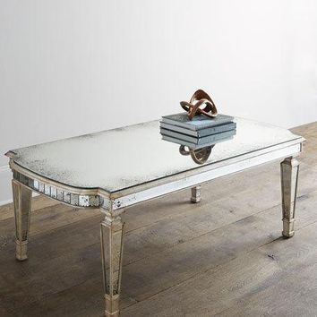 John-Richard Collection Dara Mirrored Coffee Table