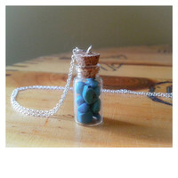 Bottled Magnesite Stone Necklace