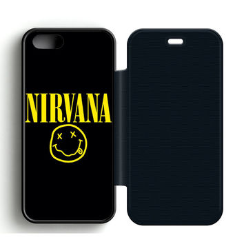 Nirvana Leather Wallet Flip Case iPhone 5 | 5S