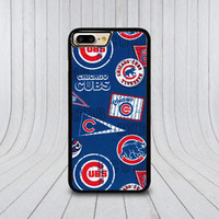 Chicago Cub Baseball Team Pattern Case For iPhone 6 6s 7 8 Plus Samsung Cover +