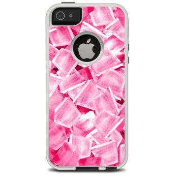 The Hot Pink Ice Cubes Skin For The iPhone 5-5s Otterbox Commuter Case