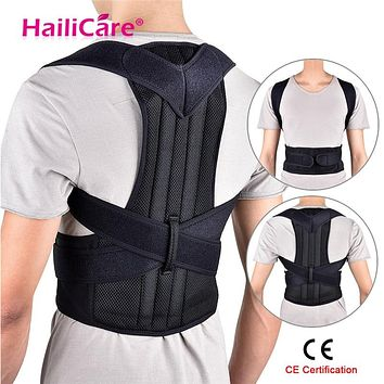 Back Posture Corrector Shoulder Lumbar Brace Spine Support Belt Adjustable Adult Corset
