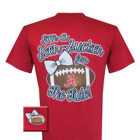New Alabama Crimson Tide Bama Seer Sucker Bright T Shirt