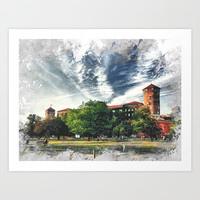 Cracow art 7 Wawel #cracow #krakow #city Art Print by jbjart