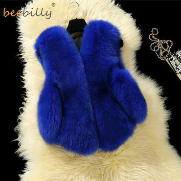 BEEBILLY Faux Fur Vests For Girls Clothes Winter Autumn Coats Clothing for Girls Kids Boys Vests Waistcoats Children Outerwear