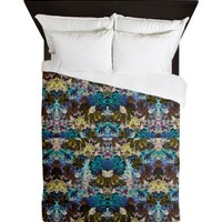 Chocolate Mystic Mandela Majestic Mess Queen Duvet