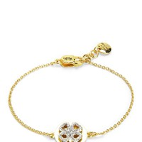 Gold Pave Clover Wish Bracelet by Juicy Couture, O/S