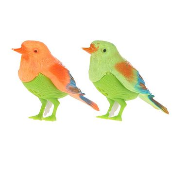 Voice Control Music Bird Simulation Cute Sing Song Bird Toy Doll Electronic Pets Cage Decorations Toys