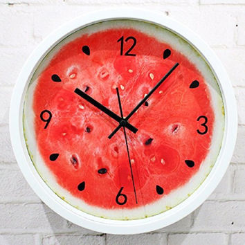 vintage home decor saat relojes pared decoracion watch large digita relogio parede wall clocks kitchen red 12inch plastic single