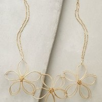 En Fleur Bib Necklace by Anthropologie in Gold Size: One Size Necklaces