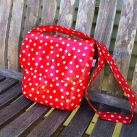 Oilcloth Lunch Tote with Cross Body Strap