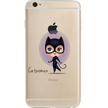 "Catwoman Jelly Clear Case for Apple iPhone 6/6s PLUS (5.5"")"