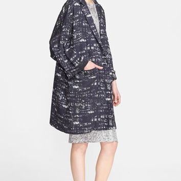 Women's Max Mara 'Uomo' Abstract Print Stretch Jacquard Coat
