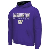 Washington Huskies Youth 3 Stack II Pullover Hoodie - Purple