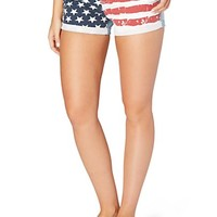 Americana Rolled Jean Short in Curvy