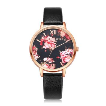 XINIU Fashion Dress Watches Women Ladies Causal PU Leather Band Quartz Wristwatch Clock Gift Watches relogio feminino Clock 2018
