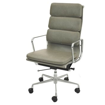 Chandel High Back Office Chair, Vintage Smoke Gray