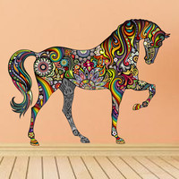 Colorful Horse Sticker